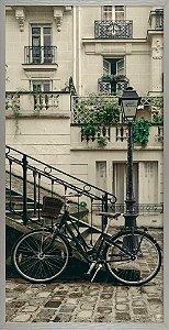 Quadro Com Sacada e Bicicleta - Quadrum & Art
