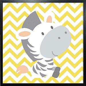 Quadro Infantil Zebra - Quadrum & Art