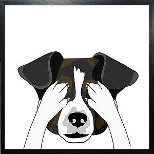 Quadro Cachorro Tapa Olho - Quadrum & Art