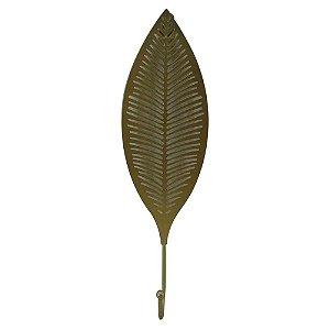 Cabideiro Folha Metal Dourado - BTC