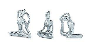 Kit Escultura Yoga Prata - Mart