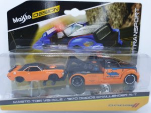 Maisto Tow Vehicle + Dodge Challenger R/T - Escala 1/64 - Maisto Elite Transport
