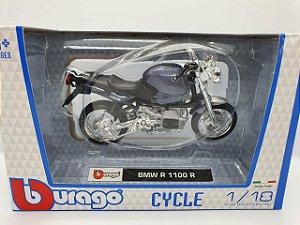Miniatura BMW R 1100 R - Escala 1/18 - Bburago Cycle