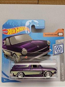 1:64 - VW CUSTOM SQUAREBACK CUSTON - COM RODAS DE BORRACHA CUSTOMIZADAS