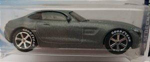 1:64 2015 MERCEDES AMG GT PRATA - COM RODAS DE BORRACHA CUSTOMIZADAS