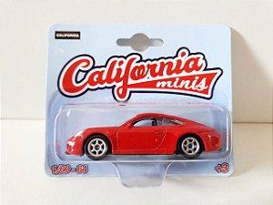 MINIATURA PORSCHE 911 CARRERA GT - VERMELHO - ESCALA 1/64