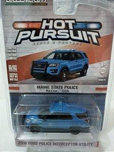 Miniatura Policia Maine - Ford Police Utility 2016 - Hot Pursuit - Escala 1/64