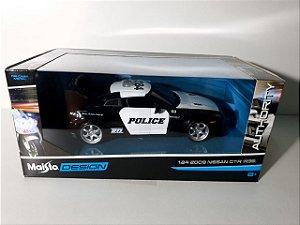 MINIATURA NISSAN GTR 2009 POLICIA - MAISTO DESIGN - ESCALA 1/24