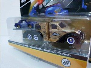Caminhão Tow Flatbed + Buick Regal 1967 - Transport Elite - Maisto