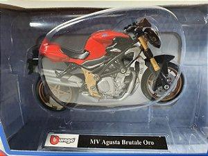 Miniatura Moto MV Augusta Brutale Oro - Escala 1/18 - Burago