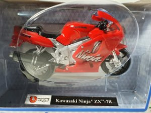 Miniatura Moto Kawasaki Ninja ZX 7R - Escala 1/18 - Burago