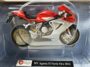 Miniatura Moto MV Augusta F3 Serie Oro 2012 - Escala 1/18 - Burago