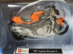 Miniatura Moto MV Augusta Brutale S - Escala 1/18 - Burago