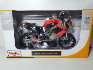 Miniatura Moto Benelli Tornado Naked Tre R160 - Escala 1/12 - Burago