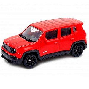 Miniatura Jeep Renegade  - Escala 1/64 - Metal - Vermelho