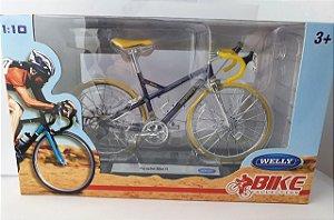 Miniatura Bicicleta Porsche Bike R - Welly - Escala 1/10 em Metal