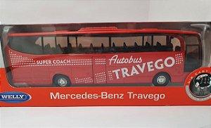 Miniatura Onibus Mercebes Benz Travego Escala 1/60 em Metal