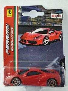 Miniatura Ferrari 488 GTB Escala 1/64 Burago Ferrari Evolution