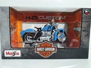 Miniatura Moto Harley Davidson 1952 K Model - Escala 1/18 - Maisto