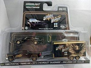 Miniatura GM Silverado 2015 + Pontiac Trans Am + Trailer Smokey Bandit