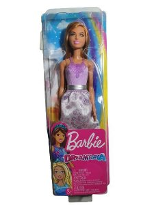 Boneca Barbie Menina Princesa Ruiva Dreamtopia Lilás Mattel