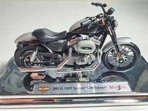 Miniatura Moto Harley Davidson XL1200N Sportster 1200 Nightster 2008 - Escala 1/18