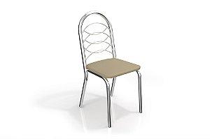 Par de Cadeiras Holanda Cromado - Nude