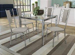 Conjunto de Mesa Reno 04 Cadeiras Lisboa - CR22