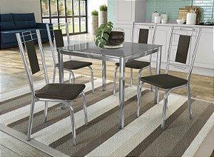 Conjunto de Mesa Reno 04 Cadeiras Florença - CR21V5