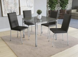 Conjunto de Mesa Reno 04 Cadeiras Amsterdã - CR110V5