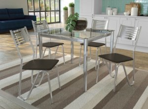 Conjunto de Mesa Reno 04 Cadeiras Nápoles - CR21
