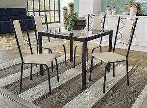 Conjunto de Mesa Reno 04 Cadeiras Lisboa - PR16