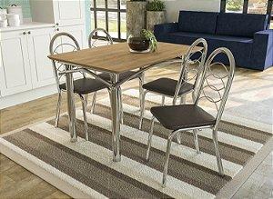 Conjunto de Mesa Elba 04 Cadeiras Holanda - CR21