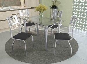 Conjunto de Mesa Elba 04 Cadeiras Munique - CR110