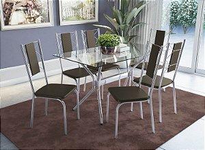 Conjunto de Mesa Loire 06 Cadeiras Lisboa - CR21