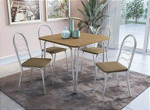 Conjunto de Mesa Amur 04 Cadeiras Holanda - CR31