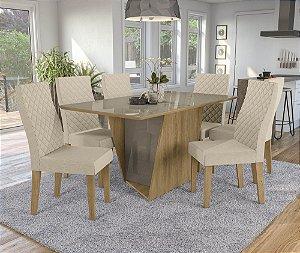 Conjunto de Mesa Jasmim 06 Cadeiras