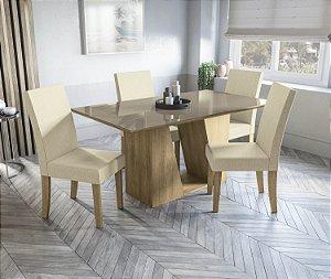 Conjunto de Mesa Roma 6 Cadeiras