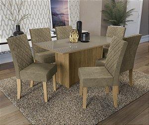 Conjunto de Mesa Cidra 06 Cadeiras