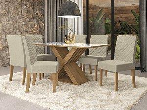 Conjunto de Mesa Graviola 6 Cadeiras