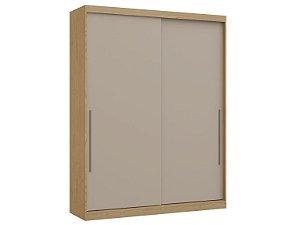 Guarda Roupa 2 Portas de Correr Premium Elegance 4222A - Angelin / Nacar