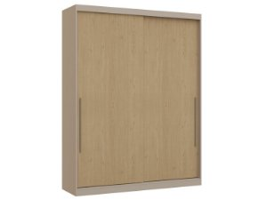 Guarda Roupa 2 Portas de Correr Premium Elegance 4222A - Nacar / Angelin