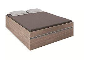 Cama Casal Box com Baú Versátil 7050A - Amêndoa