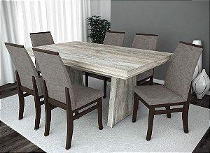 Conjunto de Mesa Gourmet 06 Cadeiras Veneza