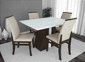 Conjunto de Mesa Madri 04 Cadeiras Veneza
