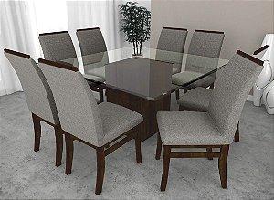 Conjunto de Mesa Milão 08 Cadeiras Milão