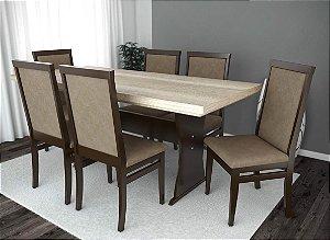 Conjunto de Mesa Nobless 06 Cadeiras Nobless