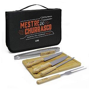 Kit churrasco maleta com 7 peças Mania de churrasco