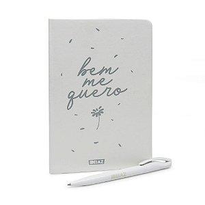 Caderno Brochura Capa Dura A5 C/ Caneta Bem Me Quero Ideiaz