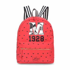 Bolsa mochila vermelho 1928 - Mickey Disney